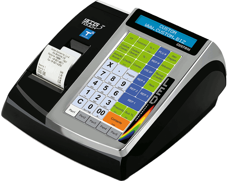 Custom Registratore Cassa Touch